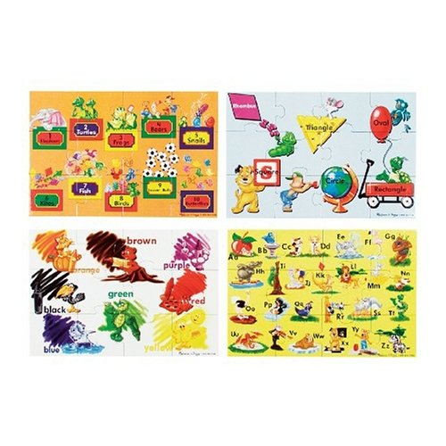 Melissa & Doug Beginning Skills - 48 pcs Floor Puzzles [Home Decor]- Olde Church Emporium