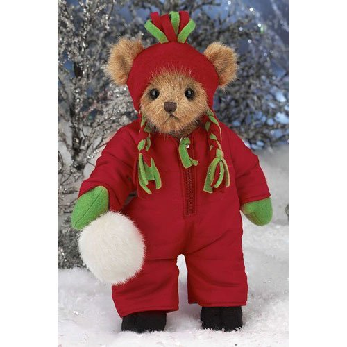 "Bearington - Christmas Holiday Bear "" Ben Chillin'"" - 13 Inches and Retired - Olde Church Emporium"