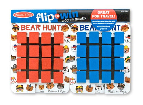 Melissa & Doug -  Bear Hunt Wooden Travel Game 2 Boards