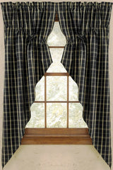 Park Design - Black Stone Valance, 72 x 14 Inches Farmhouse Country