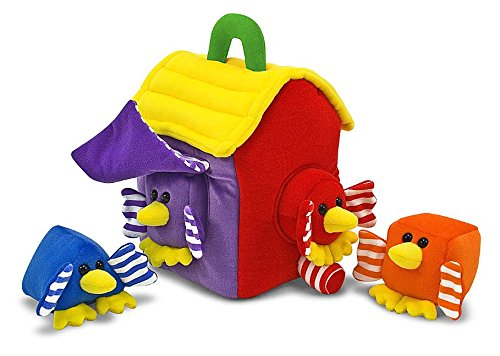 Melissa & Doug Bird House Shape Sorter Soft Baby and Toddler Toy With Handle [Home Decor]- Olde Church Emporium