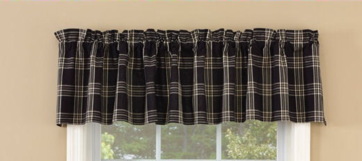 Park Designs - Black Coffee Valance - 72 x 14 Inches [Home Decor]- Olde Church Emporium