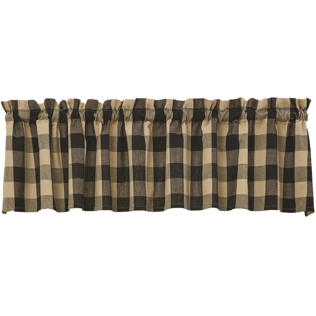 Park Designs - Tavern Check Valance - 3 Colors Black, Navy, Moss 72 x 14 Inches