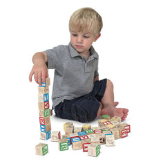 Melissa and Doug - Wooden ABC/123 Blocks [Home Decor]- Olde Church Emporium