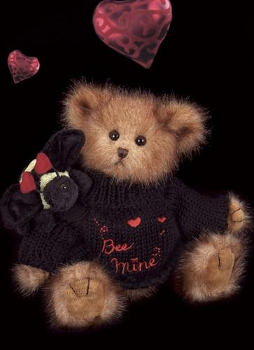 Bearington - Bee Mine Plush Valentines Bear 10 Inches and Retired - Olde Church Emporium