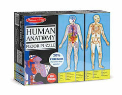 Melissa and Doug 100 Piece Floor Jigsaw Puzzle-  Human Body - 4ft Long [Home Decor]- Olde Church Emporium