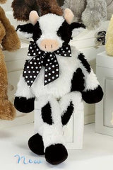 Bearington Lean Beans Bossy Long Legged Cow, Plush Stuffed Animal Toy 15""