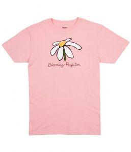 Hatley Blooming Perfection Organic Cotton Tee Shirt Pink 3 Sizes Small, Medium, Large