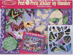 Melissa & Doug Peel And Press Stickers by Numbers Butterfly Sunset Ages 5+