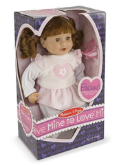 Melissa & Doug - Mine to Love Brianna 12-Inch Soft Body Baby Doll with Hair and Outfit [Home Decor]- Olde Church Emporium
