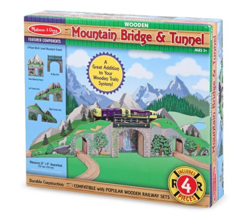 Melissa and Doug - Wooden Mountain Bridge & Tunnel Set [Home Decor]- Olde Church Emporium