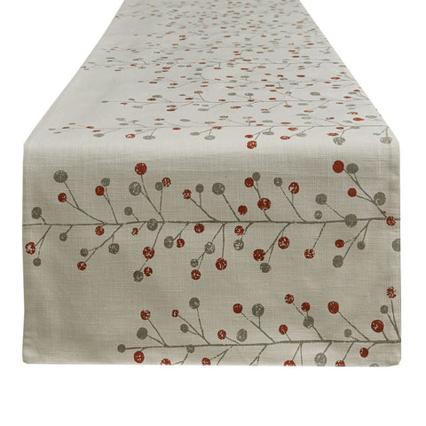 Park Design Berry Sprig Printed Table Runner 15 x 72 Inches Long  Farmhouse, Country