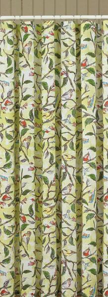 Park Designs Bird Song Shower Curtain 100% Cotton 72 x 72 Inches Free Shipping