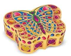 Melissa & Doug Peel & Press Sticker by Number - Butterfly Treasure Box Craft - Olde Church Emporium