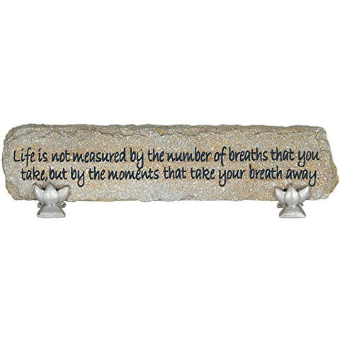 "Carson Home Accents ""Breathes you Take""  Heart Notes Stone Desktop Sign"