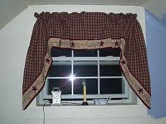 Cambridge Vine Starberry Vine Collection - Lined Valances, Tiers, Panels, Prairies, and More