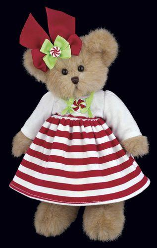 Bearington - Candy Plush Christmas Bear 10 Inches and Retired - Olde Church Emporium