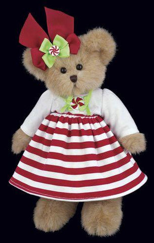 Bearington - Candy Plush Christmas Bear 10 Inches and Retired