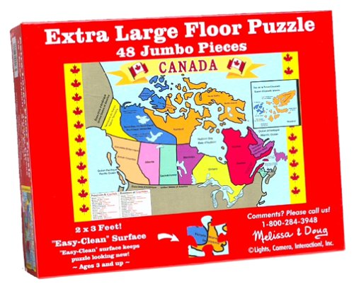 Melissa & Doug Canada Map Floor Puzzle (48 pc) [Home Decor]- Olde Church Emporium