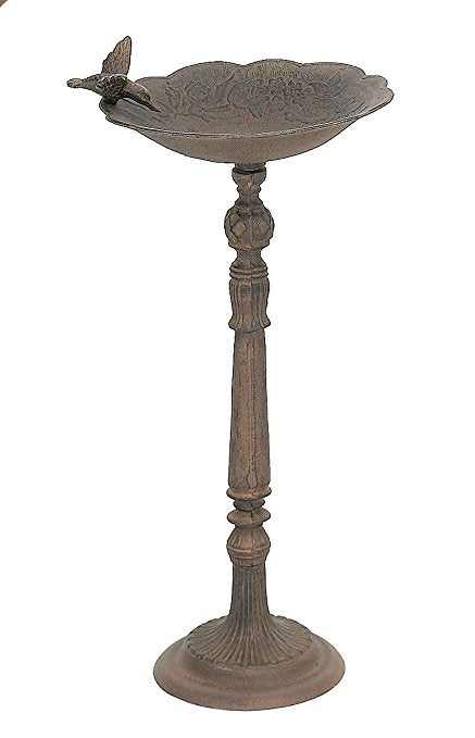 Cast Iron  -  Decorative Outdoor Birdbath - Olde Church Emporium