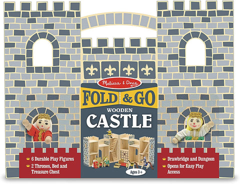 Melissa & Doug Fold & Go Wooden Castle 9 wooden play items Age 3+