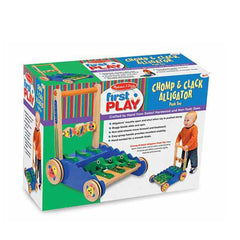 Melissa & Doug - Deluxe Chomp and Clack Alligator Wooden Push Toy and Activity Walker - Olde Church Emporium