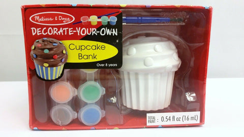 Melissa & Doug Cupcake Bank Decorate Your Own Kids Craft Paint Set Ages 8+