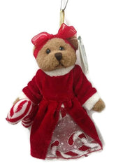 Bearington - Crissy Cane Miniature Plush Christmas Bear 5 inches and Retired - Olde Church Emporium