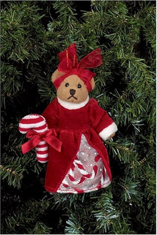 Bearington - Crissy Cane Miniature Plush Christmas Bear 5 inches and Retired
