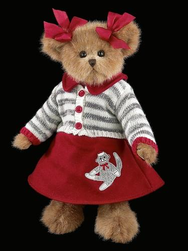 Bearington Bear Plush Cindy Socks 14 Inches and Retired