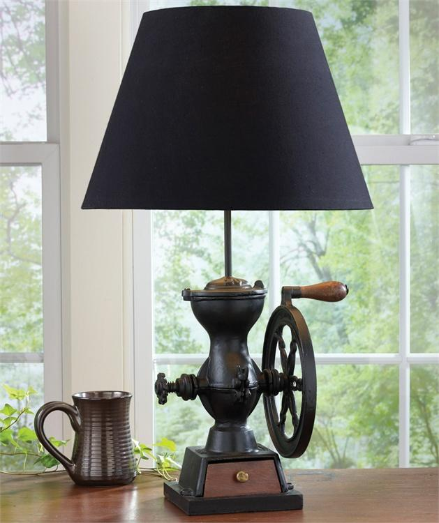 Coffee Grinder Lamp with Shade #25-324 [Home Decor]- Olde Church Emporium