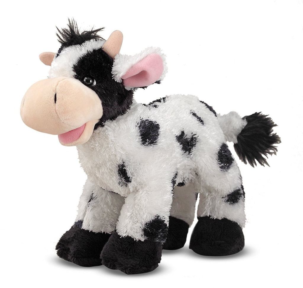 Melissa & Doug - Checkers Cow Soft and Fuzzy 10 Inches [Home Decor]- Olde Church Emporium