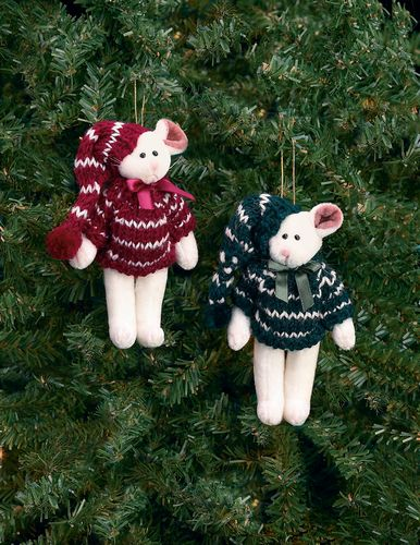 Bearngton - Christmouse Pair Christmas Plush Mouse Bears 5 Inches and Retired - Olde Church Emporium