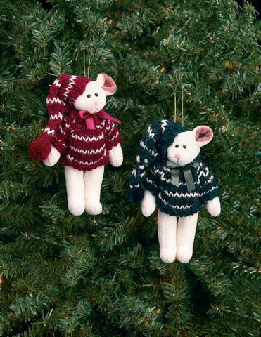 Bearngton - Christmouse Pair Christmas Plush Mouse Bears 5 Inches and Retired