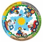 Melissa & Doug Vehicle Fun Circular Floor Puzzle (11 pieces) [Home Decor]- Olde Church Emporium