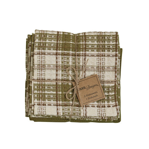 Park Design Cedar Lane 3 Dishtowel & 1 Dishcloth Set Farmhouse, Country