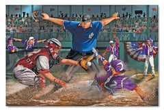 Melissa & Doug - Close Call Baseball Jumbo Jigsaw Floor Puzzle (48 pcs, 2 x 3 feet) [Home Decor]- Olde Church Emporium