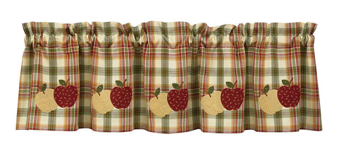 Park Designs Apple Lined Valance, 60 x 14 Inches