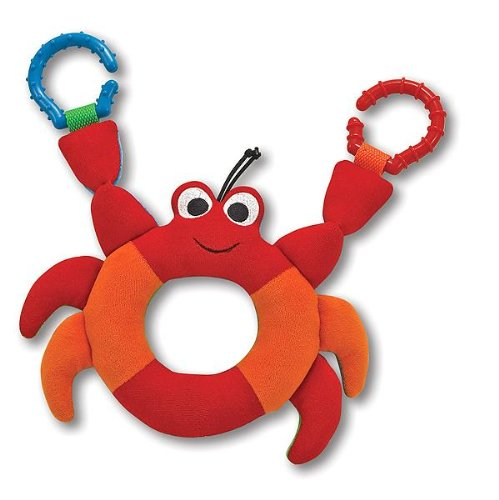 Melissa & Doug - Linking Crab Grasping Toy for Baby - Teething Rings Hook Onto Stroller [Home Decor]- Olde Church Emporium
