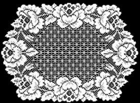 Heritage Lace Cottage Rose Collection - Placemats, Runners White Ecru Made in USA
