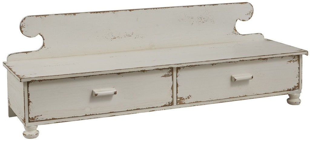 Park Designs Counter Shelf Distressed White - Olde Church Emporium