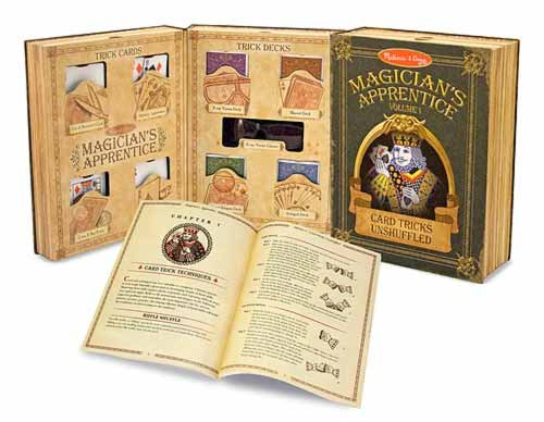 Melissa & Doug - Card Tricks Unshuffled Magicians Apprentice 30+ Professional Magic Tricks Ages 8+ [Home Decor]- Olde Church Emporium