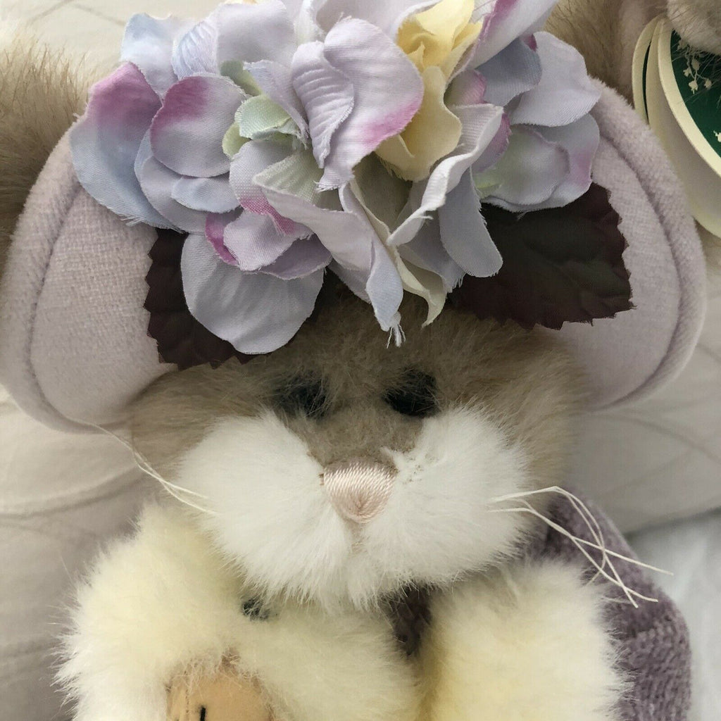 Bearington Plush Easter Bunny Rabbit - Donna and Duck 14 Inches Retired Collectible