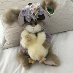 Bearington Plush Easter Bunny Rabbit - Donna and Duck 14 Inches Retired Collectible - Olde Church Emporium