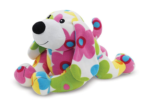 Melissa & Doug - Beeposh Daisy Dog Patterned Soft and Squishy  Stuffed Animal