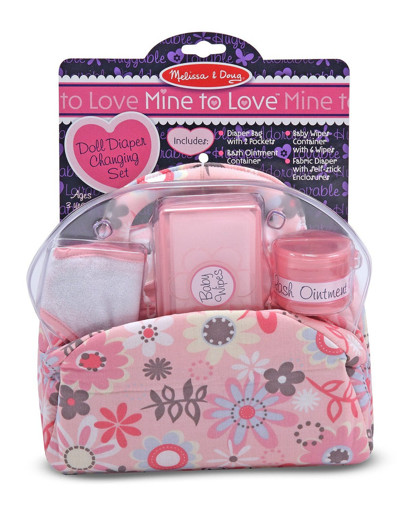 Melissa & Doug - Mine to Love Doll Diaper Changing Set With Bag, Wipes, Accessories (7 pcs) [Home Decor]- Olde Church Emporium