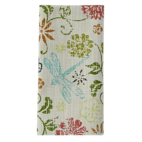 Park Design Dragonfly Floral Napkins 18 Inch Square Farmhouse, Country