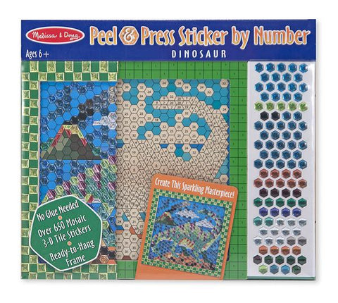 Melissa and Doug Dinosaur Peel & Press Sticker by Number