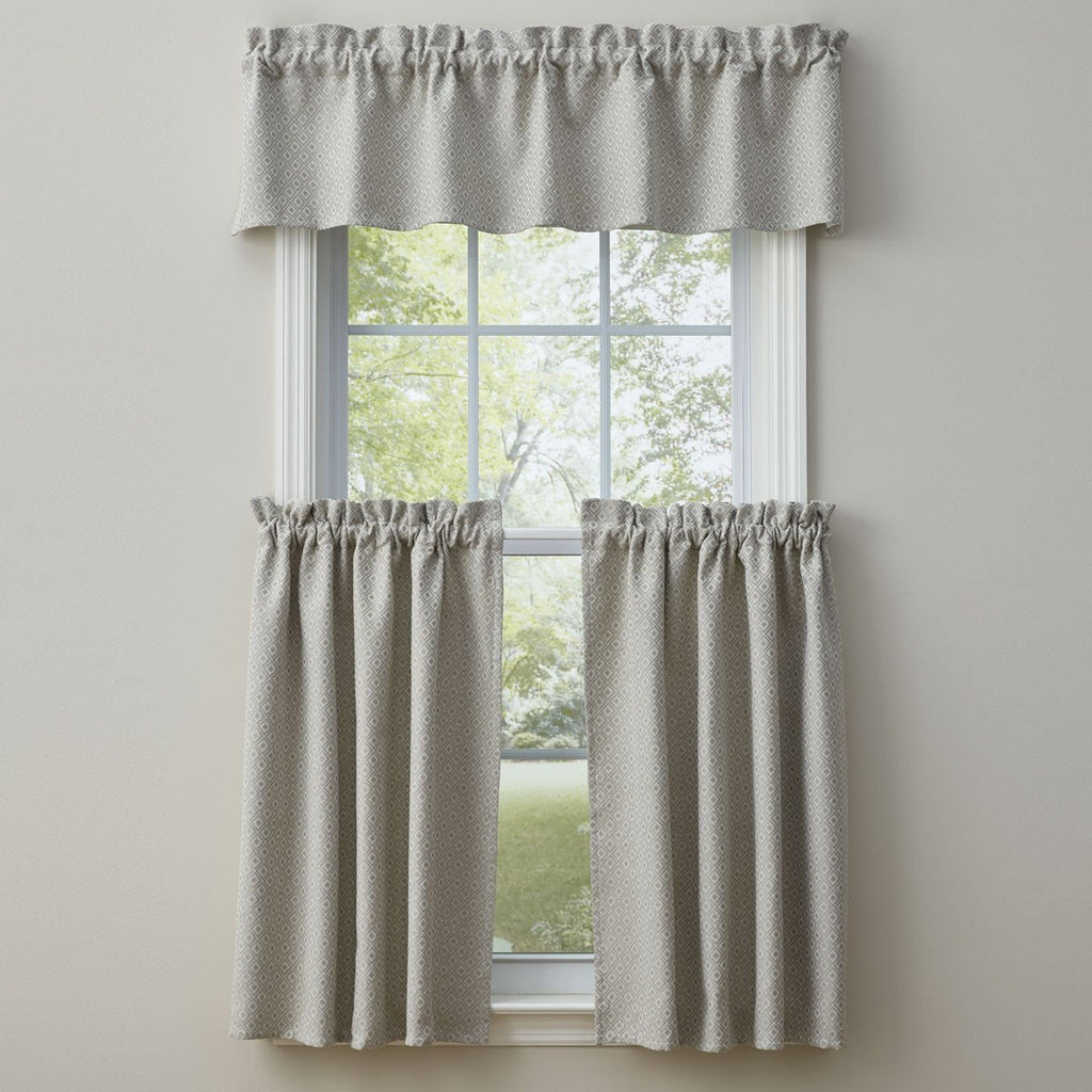 Park Designs Diamond Jacquard Valance lined Cotton Country 60 X 14 Inches - Olde Church Emporium