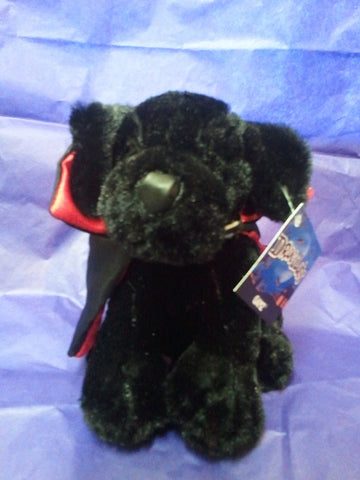 "Ganz - Draculab 6"" Halloween Stuffed Plush Black Labrador with Cape"
